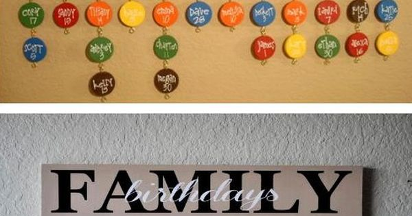 Diy Family Calendar : Diy family birthdays calendar projects pinterest