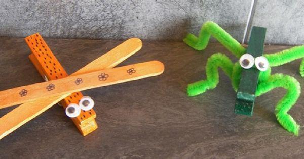 Voici 2 petites id es d 39 activit cr ative et originale - Activite pince a linge maternelle ...
