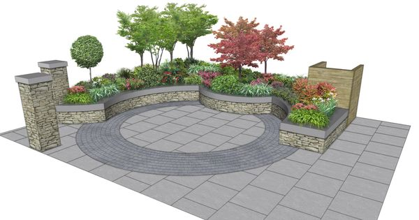 Concept layout proposal for a small space milltown for Garden design proposal