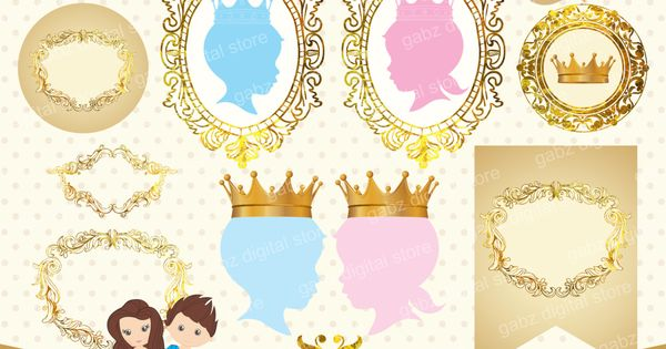 Once Upon a Dream Gender Reveal Baby Shower Clipart Prince ...