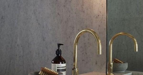 Grifer a dorada de lujo ba os banheiros pinterest - Griferia de lujo ...