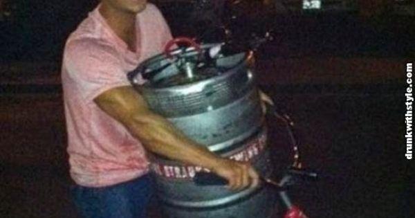 Thank God Its Friday Funny Beer Keg Bike Guy ...