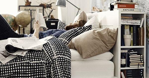 Lateral y parte superior aprovechables. Cama Brimmes IKEA (175€) con cajones ...