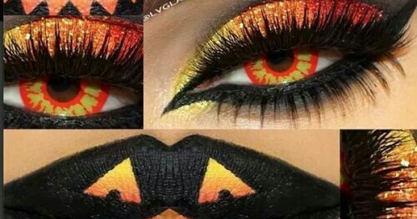 Halloween makeup pretty freaking awesome! | See more about Halloween Makeup, Halloween and Makeup.