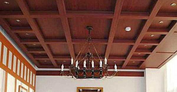 14 gypsum false ceiling design with wooden decorations for living room 2015   Pinterest   False ...