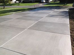 Checkerboard Broom Finish Driveways Concrete Backyard Concrete