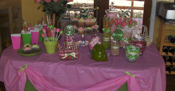 candy buffet for a princess and the frog baby shower parties i have