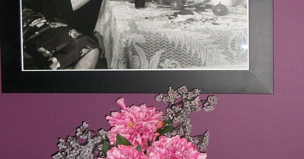 Dulux Quot Mulberry Burst Quot Paint On Feature Wall Abigail