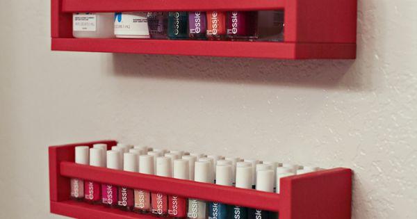 diy nail polish rack using ikea spice rack home ideas pinterest diy nail polish diy. Black Bedroom Furniture Sets. Home Design Ideas