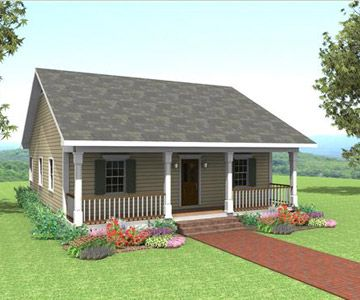 Quaint And Cozy Is The Only Way To Describe This Home It Features Covered Porch That Leads Into Country Style House Plans Country House Plans Cottage Plan