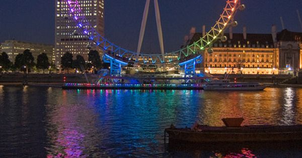 Queer eye? by Mister Rad, via Flickr, The London Eye lights up