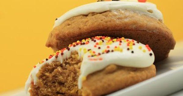 Pumpkin Cookies cookies pumpkin & Cream cheese icing
