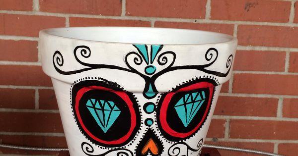 Sugar skull plant pot | Sugar Skulls - Ideas/Prints ...