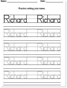 Instant Name Worksheet Maker Genki English Preschool