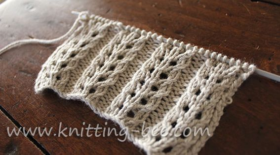 Knitting Pattern Abbreviations Us : Gorgeous and easy free eyelet rib knitting stitch pattern. Abbreviations: k= ...