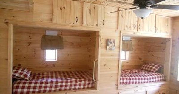 Built In Bunk Beds For Cabin Great 3rd Bedroom With Two