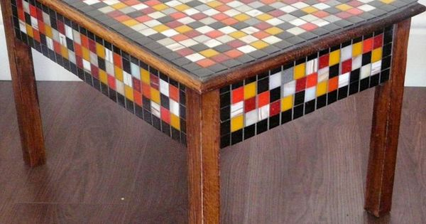 Coffee Table Mosaic Coffee Table Glass And Stone Tile Mosaic Table Roman Ruins Mosaic 40 L X 23 W X 17 T Dark Brown Wax Finish Mosaic Coffee Table Coffee Table