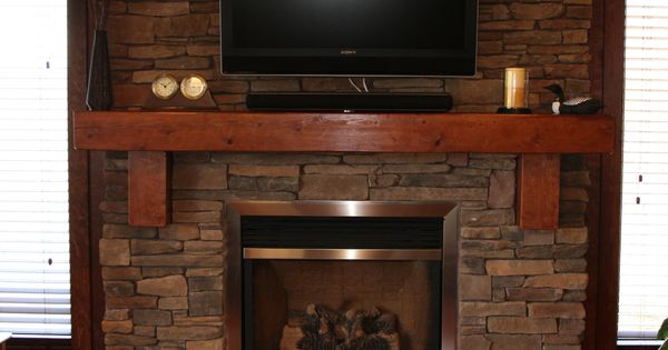 Stone Fireplace No hearth, might want a hearth flush with ...