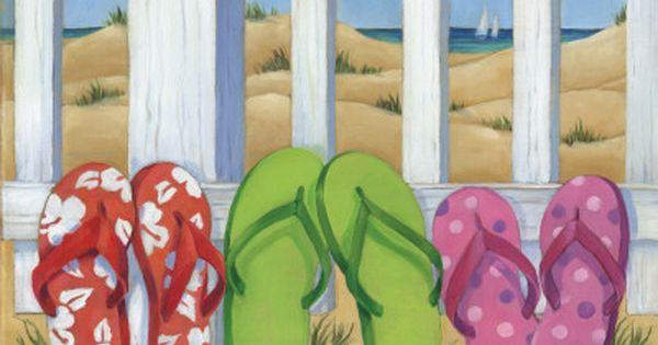Beach sandals - photo