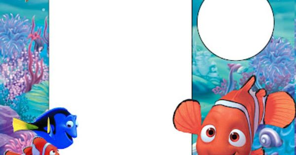 Nemo Kit Completo com molduras para convites rtulos para
