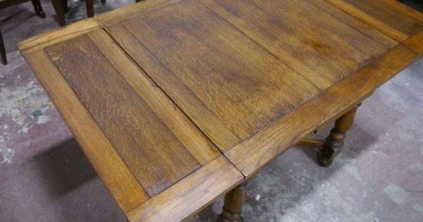 Quality Antique 1920 039 S Oak Draw Leaf Dining Table Library Table Library Table Table Oak Dining Table