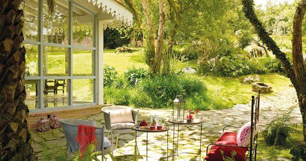 Alrededor del porche jardines patios porches terrazas - Porches y jardines ...