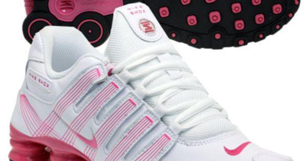 tenis nike shox nz branco e rosa