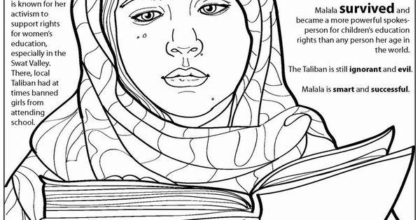Coloring Books Malala Yousafzai Free Online Coloring