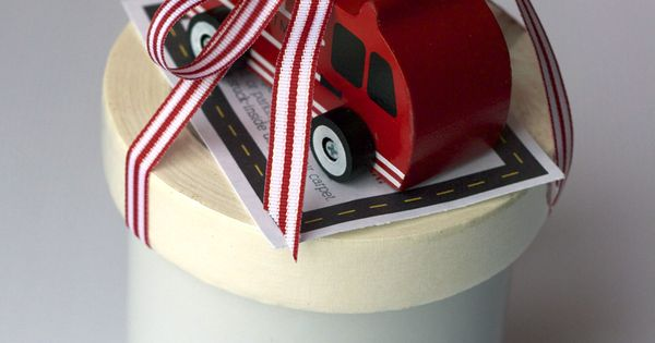 toy car and masking tape - My Sisters Suitcase: $2 Gift Idea