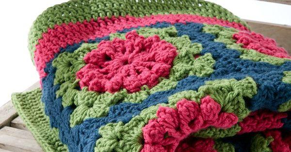 Yarnspirations Free Crochet Patterns : Petal Pops Blanket - Free Crochet Pattern ...