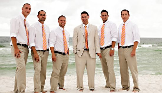 groom/groomsmen beach wedding attire