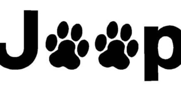 Jeep Wrangler Dog Cat Paw Prints Decal Sticker You Pick Color