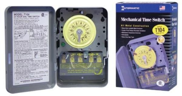 Intermatic T104 Commercial Grade Timer 240 277 Volt Timer Mechanic Switch