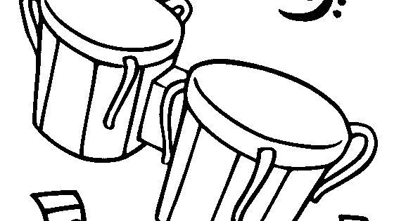 Bongo Drums Coloring Page