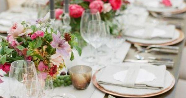 D coration de tables de mariage les plus belles tendances tablescapes - Les plus belles tables basses ...