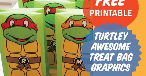 Ninja Turtle Treat Bags