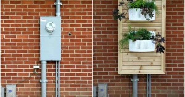 Remodelaholic 13 Ways To Hide Outdoor Eyesores House Tweaking Cover Electrical Panel Hide Electrical Panel