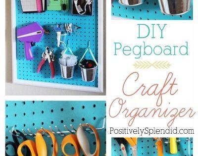 Diy pegboard craft room organizer peg boards final days for Diy pegboard craft organizer