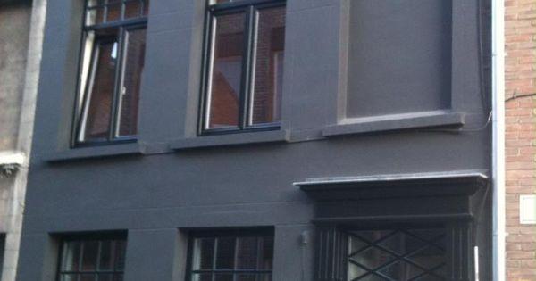 Voordeur in ral zwart renovatie uitvoering door weldimo verf je buitenmuur gevel - Moulure architectuur ...