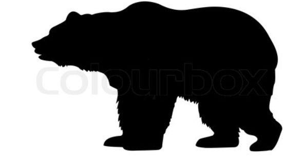 Silhouette Bear Isolated On White Background Stock Photo Bear Silhouette Bear Images Bear Art