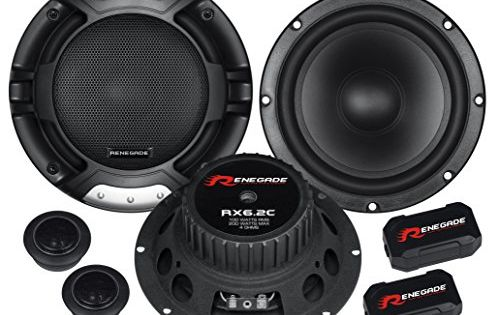 Renegade RX6.2C 6.5-Inch 2-Way Component System Renegade Mobile Audio Black Set of 2