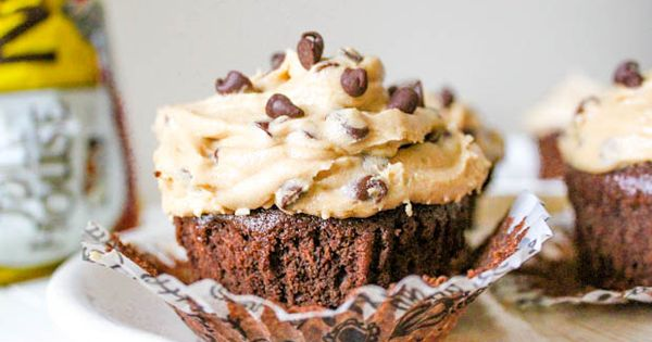 Fudge Brownie Cookie Dough Cupcakes: After moving I haven't unpacked my cupcake