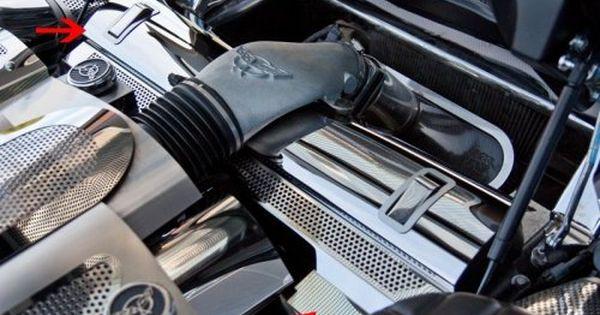 C5 Corvette Perforated Radiator Cover Radiator Cover Car Craft Corvette