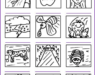 The 10 plagues of egypt moses pharaoh kids korner for Ten plagues of egypt coloring pages