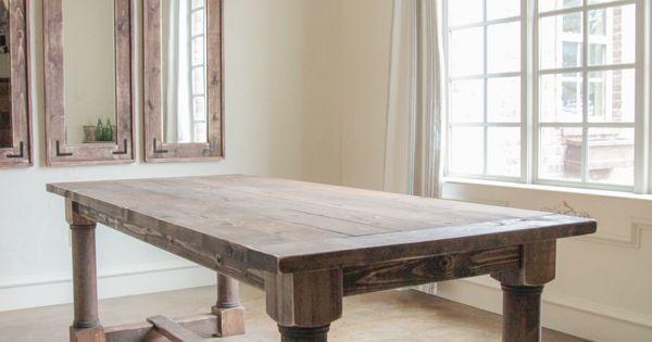 DIY farmhouse dining room table | Inspo Depot | Pinterest ...