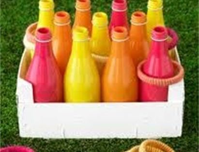 ring toss game. Cute idea for a carnival inspired party.