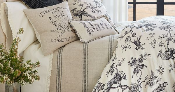 Toile Laundry Room Ideas: French Laundry Home Blackbird Toile Bedding