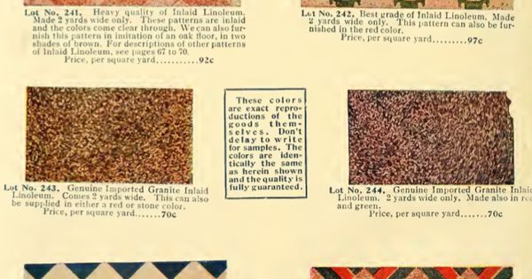 Inlaid Linoleum Patterns From 1908 Catalog House
