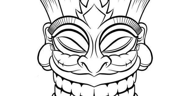 Tiki Drawing Recherche Google Polynesien Pinterest
