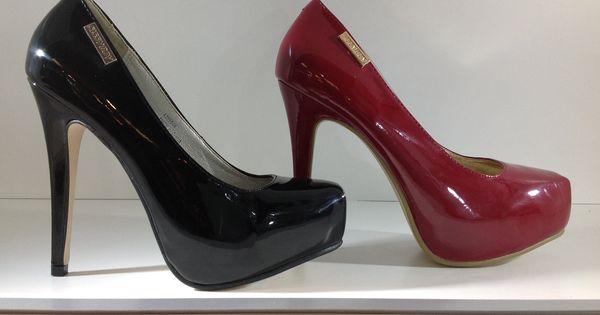 sissy boy black patent leather high heel platform
